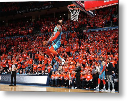 Playoffs Metal Print featuring the photograph Paul George by Zach Beeker