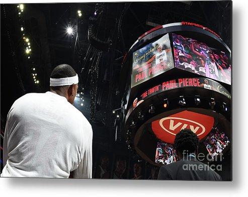 Nba Pro Basketball Metal Print featuring the photograph Paul Pierce by Andrew D. Bernstein