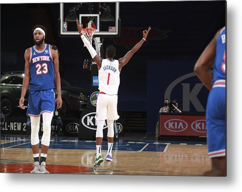 Nba Pro Basketball Metal Print featuring the photograph Reggie Jackson by Nathaniel S. Butler