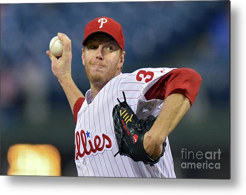 People Metal Print featuring the photograph Roy Halladay by Drew Hallowell