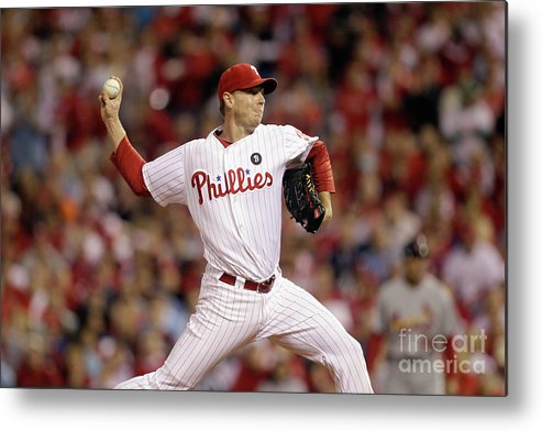 Citizens Bank Park Metal Print featuring the photograph Roy Halladay by Rob Carr