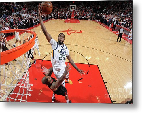 Playoffs Metal Print featuring the photograph Royce O'neale by Bill Baptist