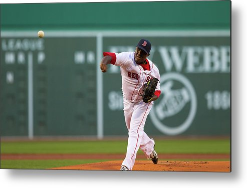 American League Baseball Metal Print featuring the photograph Rubby De La Rosa by Rich Gagnon