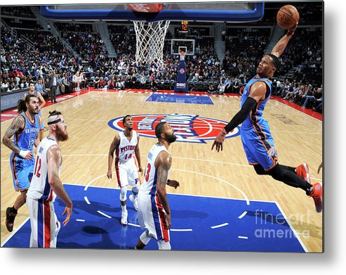 Nba Pro Basketball Metal Print featuring the photograph Russell Westbrook by Chris Schwegler
