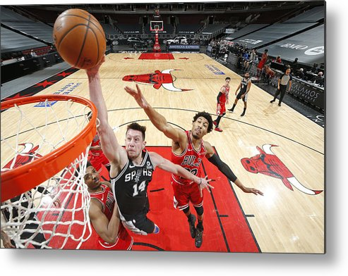 Nba Pro Basketball Metal Print featuring the photograph San Antonio Spurs vs. Chicago Bulls by Jeff Haynes