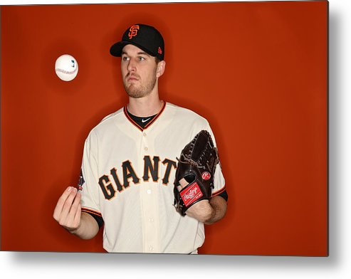Media Day Metal Print featuring the photograph San Francisco Giants Photo Day by Patrick Smith