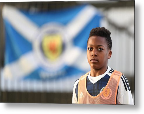 People Metal Print featuring the photograph Scotland U16 v Northern Ireland U16 - Victory Shield by Ian MacNicol