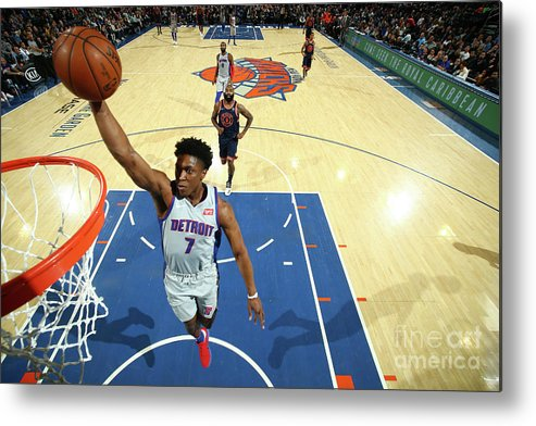 Nba Pro Basketball Metal Print featuring the photograph Stanley Johnson by Nathaniel S. Butler