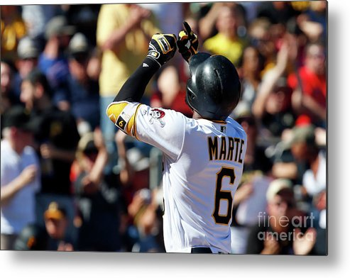 People Metal Print featuring the photograph Starling Marte by Justin K. Aller