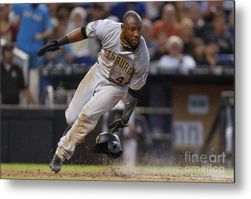 People Metal Print featuring the photograph Starling Marte by Michael Reaves
