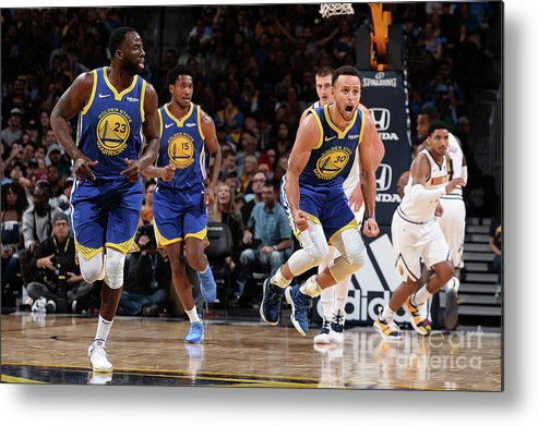 Nba Pro Basketball Metal Print featuring the photograph Stephen Curry by Bart Young