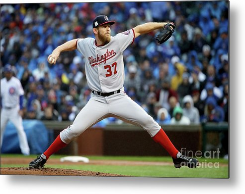 Second Inning Metal Print featuring the photograph Stephen Strasburg by Jonathan Daniel