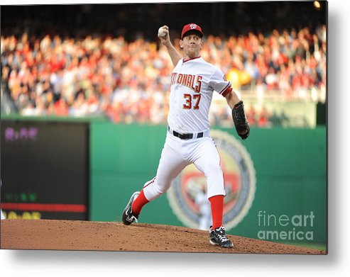 Stephen Strasburg Metal Print featuring the photograph Stephen Strasburg by Rich Pilling