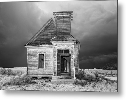 Architecture Metal Print featuring the photograph Taiban Church by Candy Brenton