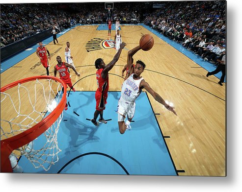 Nba Pro Basketball Metal Print featuring the photograph Terrance Ferguson by Zach Beeker
