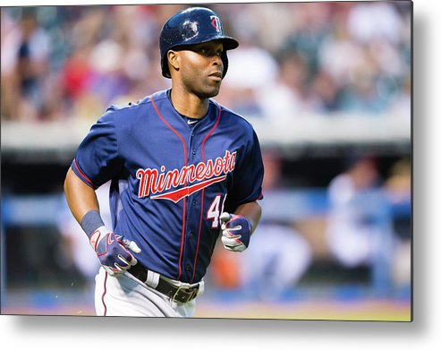People Metal Print featuring the photograph Torii Hunter by Jason Miller