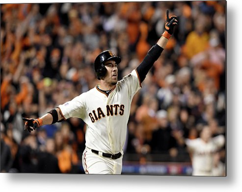 Playoffs Metal Print featuring the photograph Travis Ishikawa by Thearon W. Henderson