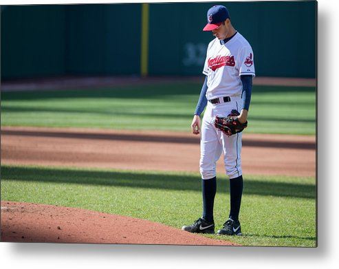 American League Baseball Metal Print featuring the photograph Trevor Bauer by Jason Miller