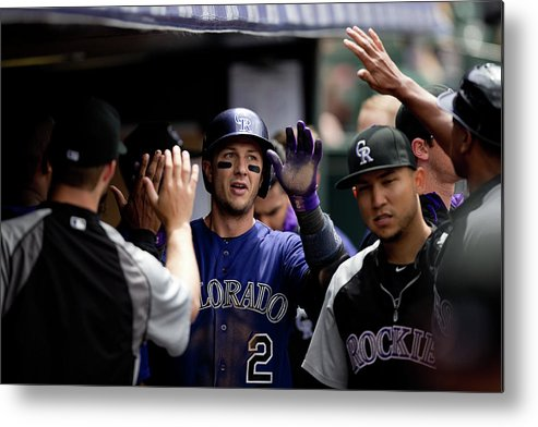 Second Inning Metal Print featuring the photograph Troy Tulowitzki by Justin Edmonds