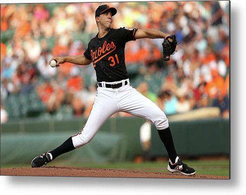 Working Metal Print featuring the photograph Ubaldo Jimenez by Patrick Smith