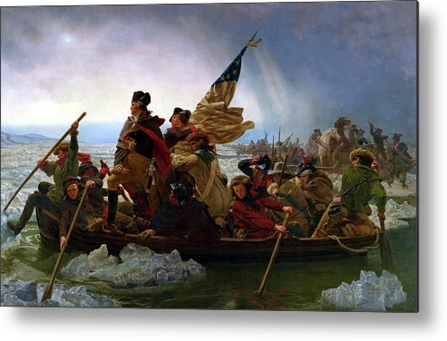 George Washington Metal Print featuring the painting Washington Crossing the Delaware by Emanuel Leutze