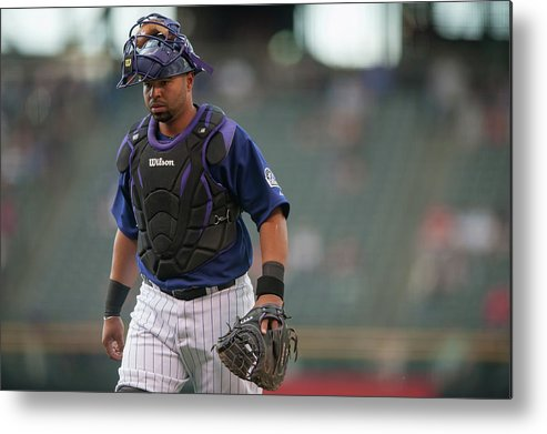 Home Base Metal Print featuring the photograph Wilin Rosario by Dustin Bradford