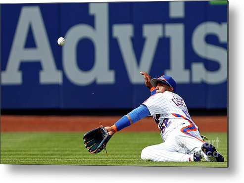 Yoenis Cespedes Metal Print featuring the photograph Yoenis Cespedes by Adam Hunger