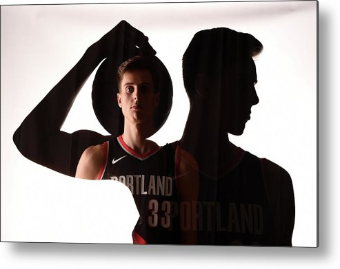 Nba Pro Basketball Metal Print featuring the photograph Zach Collins by Brian Babineau