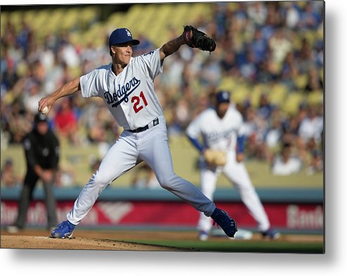 California Metal Print featuring the photograph Zack Greinke by Paul Spinelli