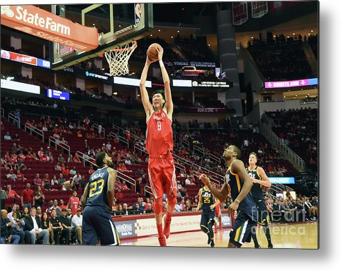 Nba Pro Basketball Metal Print featuring the photograph Zhou Qi by Bill Baptist