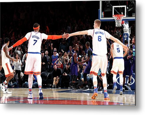 Nba Pro Basketball Metal Print featuring the photograph Carmelo Anthony by Nathaniel S. Butler