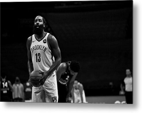 Nba Pro Basketball Metal Print featuring the photograph James Harden by Jesse D. Garrabrant