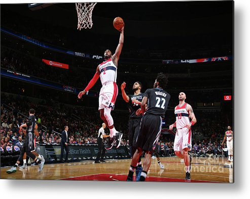 Nba Pro Basketball Metal Print featuring the photograph John Wall by Ned Dishman