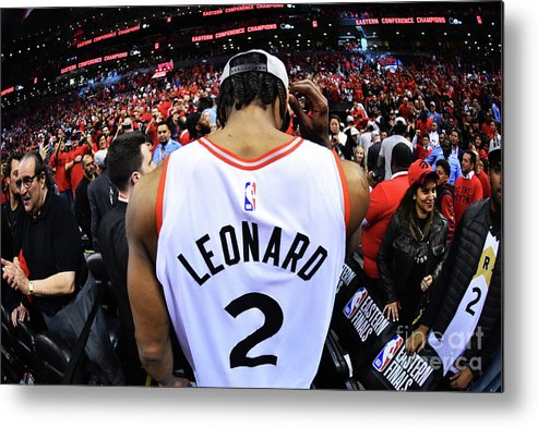 Nba Pro Basketball Metal Print featuring the photograph Kawhi Leonard by Jesse D. Garrabrant