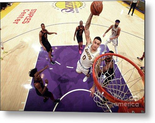 Nba Pro Basketball Metal Print featuring the photograph Kyle Kuzma by Andrew D. Bernstein