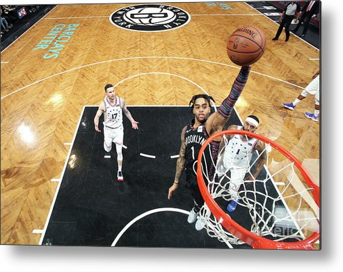 Playoffs Metal Print featuring the photograph D'angelo Russell by Nathaniel S. Butler