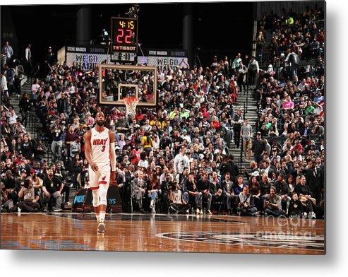 Nba Pro Basketball Metal Print featuring the photograph Dwyane Wade by Issac Baldizon