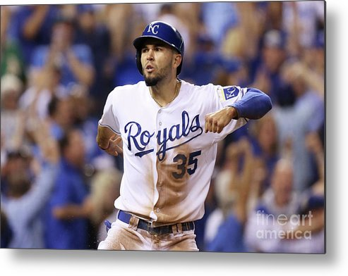 Playoffs Metal Print featuring the photograph Eric Hosmer by Ed Zurga