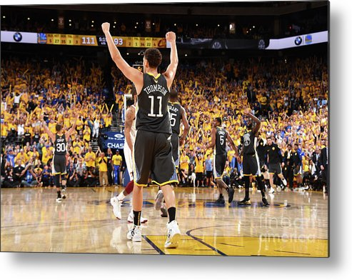 Playoffs Metal Print featuring the photograph Klay Thompson by Andrew D. Bernstein