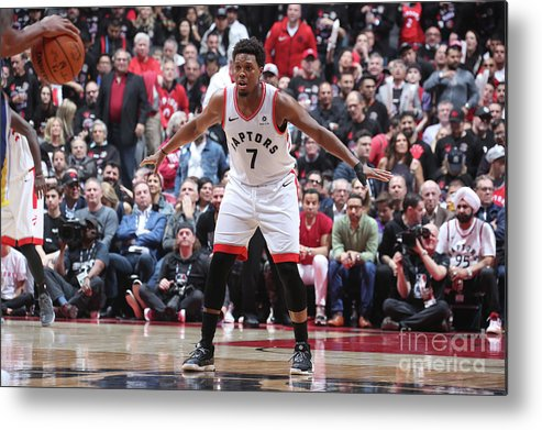 Playoffs Metal Print featuring the photograph Kyle Lowry by Nathaniel S. Butler