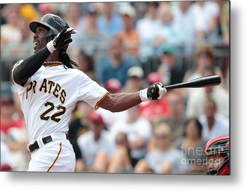 Pnc Park Metal Print featuring the photograph Andrew Mccutchen by Jared Wickerham