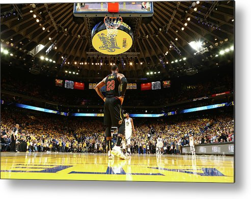 Playoffs Metal Print featuring the photograph Lebron James by Nathaniel S. Butler