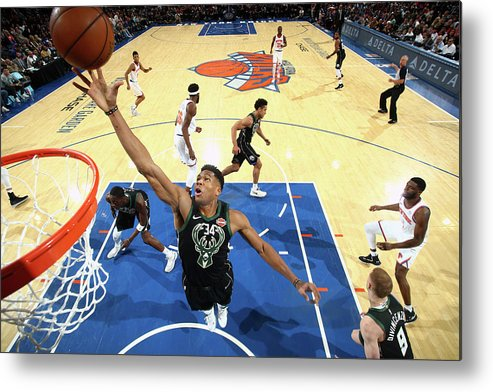 Nba Pro Basketball Metal Print featuring the photograph Giannis Antetokounmpo by Nathaniel S. Butler
