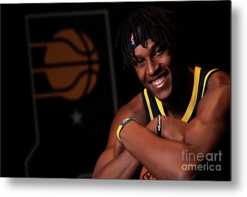 Media Day Metal Print featuring the photograph Myles Turner by Ron Hoskins