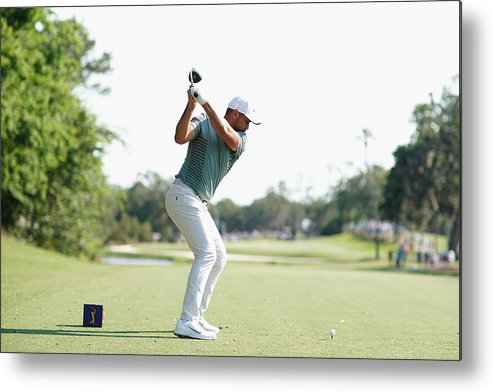 People Metal Print featuring the photograph THE PLAYERS Championship - Round One by Richard Heathcote