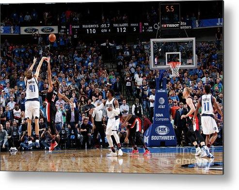 Nba Pro Basketball Metal Print featuring the photograph Dirk Nowitzki by Glenn James