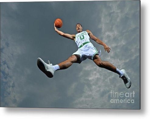 Nba Pro Basketball Metal Print featuring the photograph Jayson Tatum by Jesse D. Garrabrant
