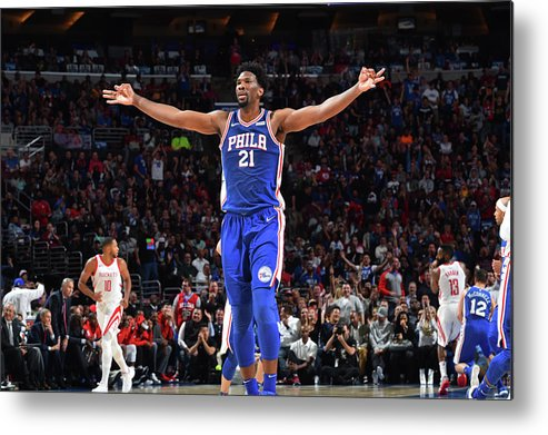 Nba Pro Basketball Metal Print featuring the photograph Joel Embiid by Jesse D. Garrabrant