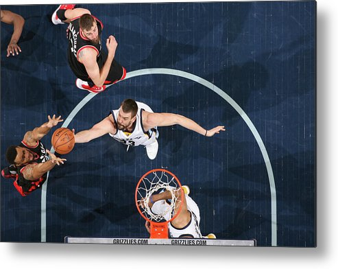 Nba Pro Basketball Metal Print featuring the photograph Marc Gasol by Joe Murphy