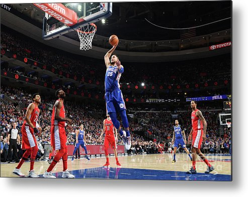 Nba Pro Basketball Metal Print featuring the photograph Ben Simmons by Jesse D. Garrabrant